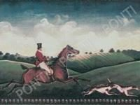 Декор Fox Hunting A (One Rider) 15x20